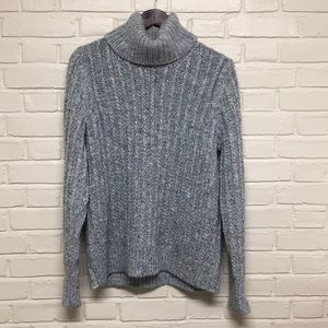 Blue/Gray Knit Turtleneck Banana Republic Sweater